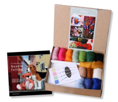 Needle Felting Kit - Book, Wool, Needles & Tools