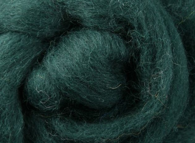 Corriedale Wool Sliver/Roving/Top - Green Tea - 1kg