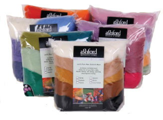 Felting Wool Multi-Colour Packs 100g