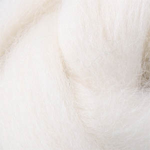22 Micron Superwash Merino Wool Roving - Natural White