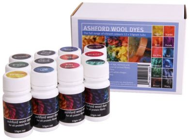 Wool Dye 12 Colour Collection - acid dyes