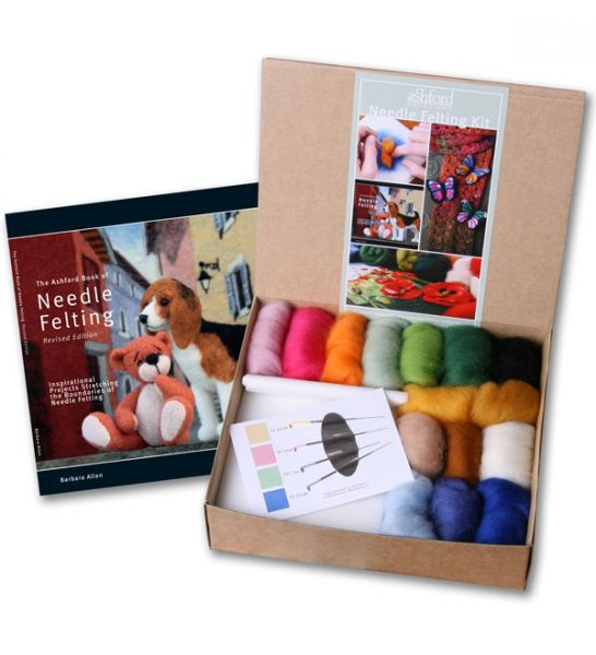 Needle Felting Starter Kit - Book, Wool, Needles & Tools
