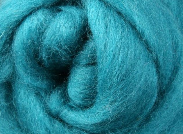 Corriedale Wool Sliver/Roving/Top - Spearmint - 100g