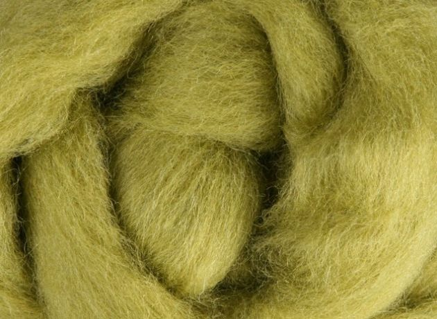 Corriedale Wool Sliver/Roving/Top - Bean Sprout - 1kg