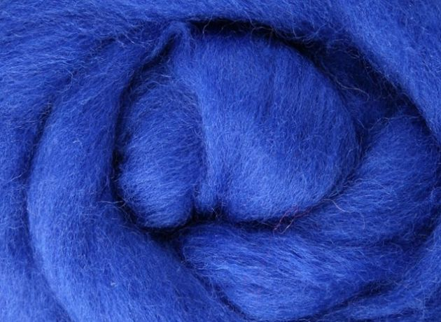 Corriedale Wool Sliver/Roving/Top - Blue - 1kg