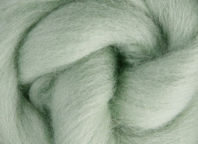Corriedale Wool Sliver/Roving/Top - Mint - 1kg