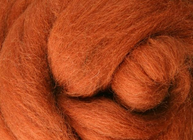 Corriedale Wool Sliver/Roving/Top - Toffee - 1kg
