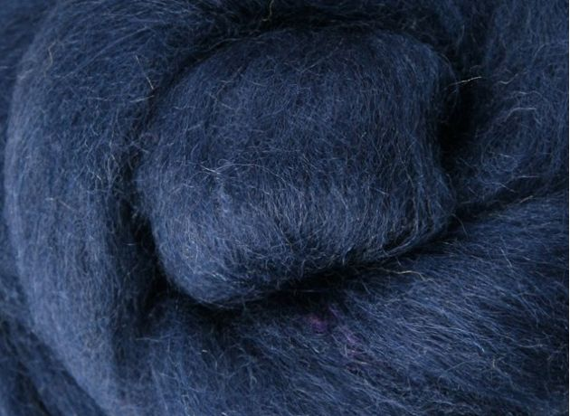 Corriedale Wool Sliver/Roving/Top - Indigo - 1kg