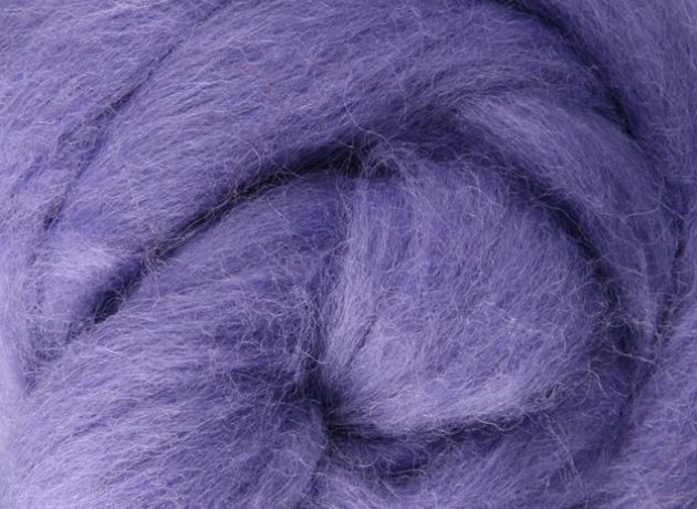 Corriedale Wool Sliver/Roving/Top - Lilac - 1kg