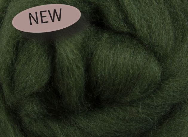 Corriedale Wool Sliver/Roving/Top - Fern Green - 1kg