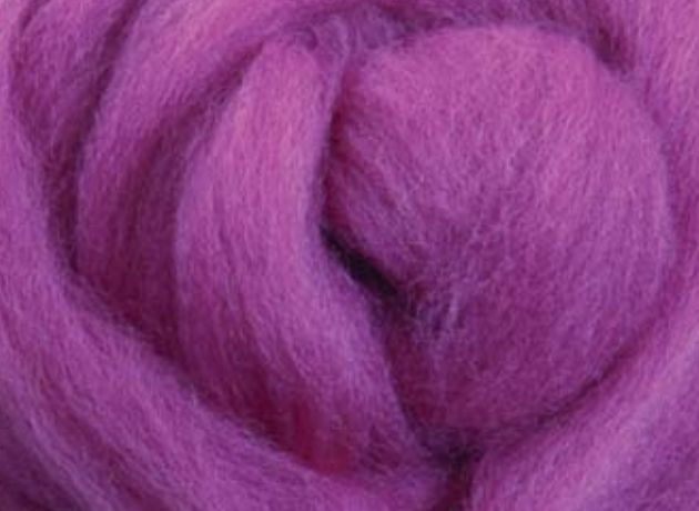 Merino Wool Sliver/Roving/Top - Orchid - 500g