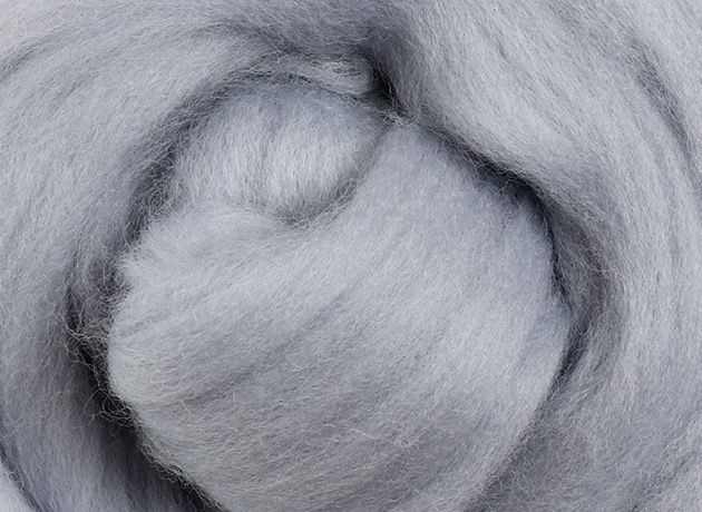 Merino Wool Sliver/Roving/Top - Fog - 500g