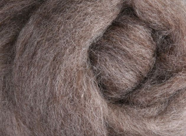 30 Micron Corriedale Wool Sliver/Roving/Top - Natural Medium - 100g