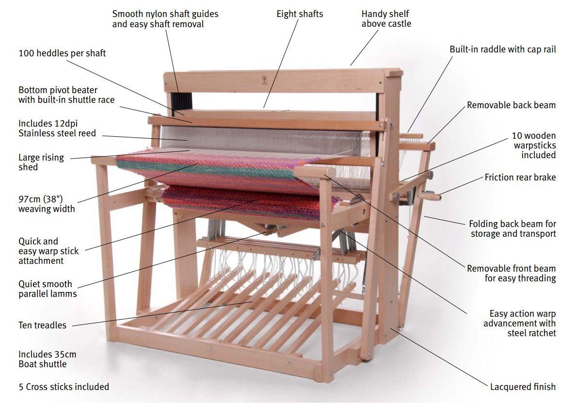 Ashford 8 Shaft Jack Loom - 97cm/38inch - Other Looms