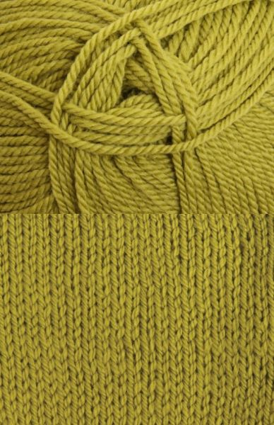 Tekapo 3 ply, 8 ply or 12 ply Wool Yarn - Chartreuse (5 x 100g balls)