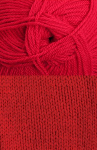 Tekapo 3 ply, 8 ply or 12 ply Wool Yarn - Traditional Red (5 x 100g balls)